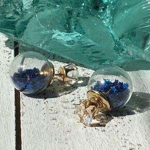 Jewelry - Royal Blue Double Stud Earrings